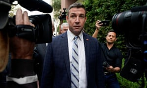 Duncan Hunter arrives at court in San Diego, California, 3 December 2019.