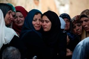 Jenin, West Bank Relatives of Saad Salah mourn