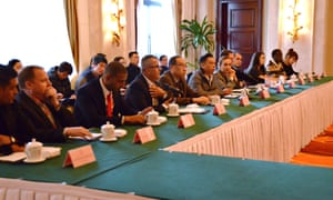 Officials discuss problems with foreigners from countries including Turkey, Oman, Egypt, Malaysia, South Korea and North Sudan.