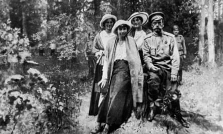 Nicholas II and his family in Tobolsk, in January 1918, during their period in captivity