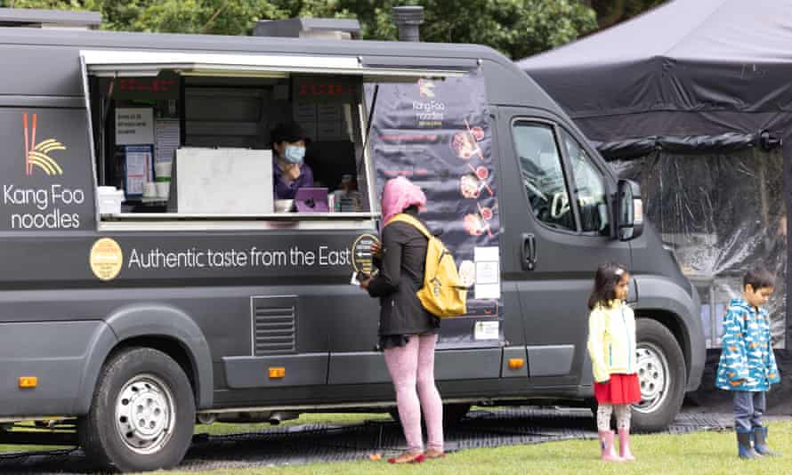 Anyone getting vaccinated receives a voucher to redeem at the festival's food vans