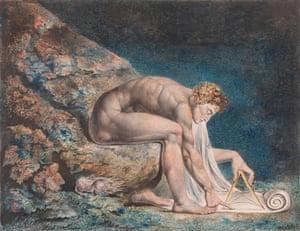 Gothic sensuality … Newton 1795-c 1805, by William Blake.
