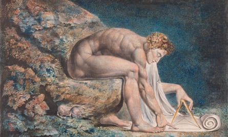 Crouching and absorbed … Blake's Newton (1795c).