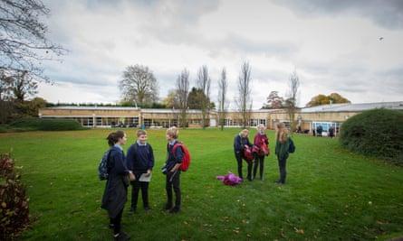 Pupils at Impington Village College, Cambridgeshire.