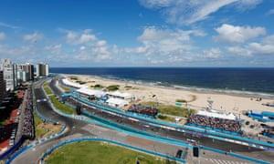 The Formula E ePrix race in Punta del Este, Uruguay.