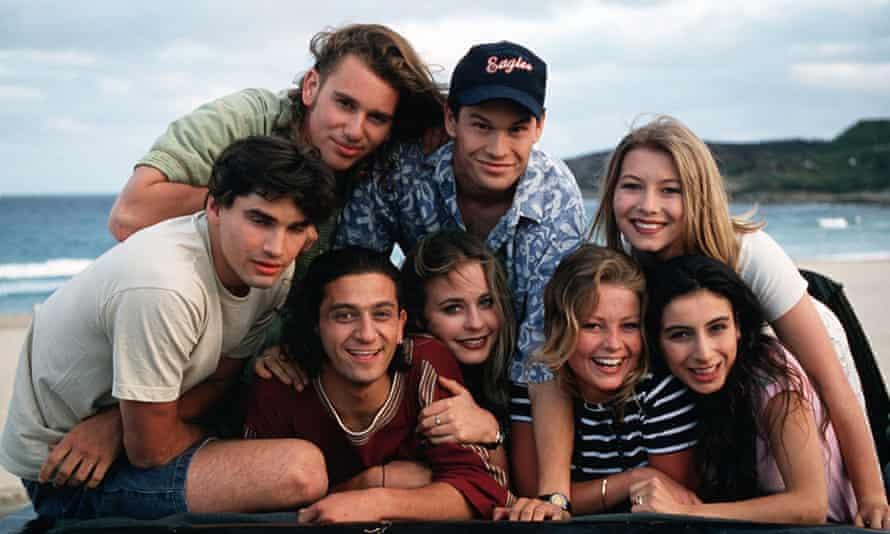 The original cast of Heartbreak High in the 1990s
