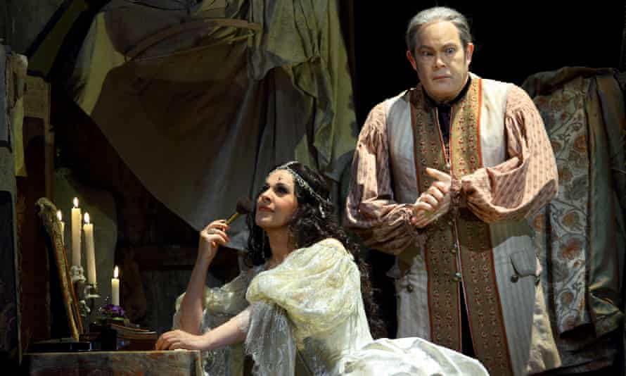 Deep vulnerability ... Angela Gheorghiu in the title role of Adriana Lecouvreur, with Gerald Finley as Michonnet.