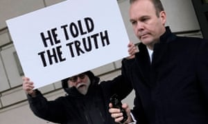 Rick Gates leaves federal court after being sentenced to 45 days in jail and three years probation, in Washington in December 2019.
