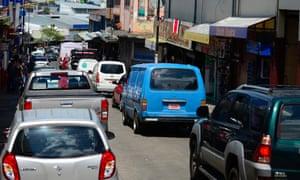 El tráfico en San José.