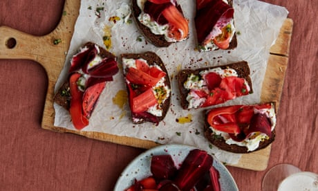 Anna Jones' Christmas recipes for smoky carrot toasts and blood orange fizz