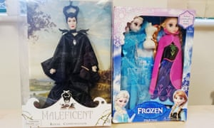 Counterfeit dolls based on Disney's Maleficent and Frozen films. Some were found to contain 18 times the legal limit of phthalates.