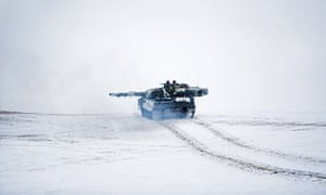 A Norwegian tank during Nato military exercises when the GPS signal over the Arctic was disrupted.