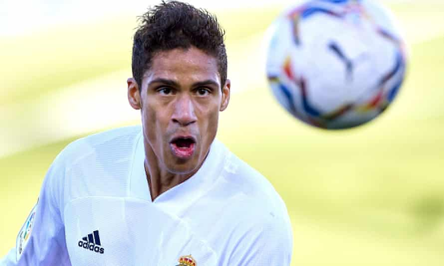 Raphaël Varane in action for Real Madrid last season. He has one year left on his contract.
