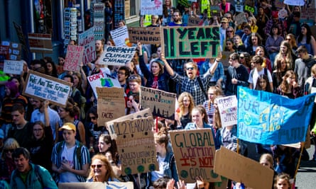 The Scottish Youth Climate Strike, in Holyrood, Edinburgh, last month.