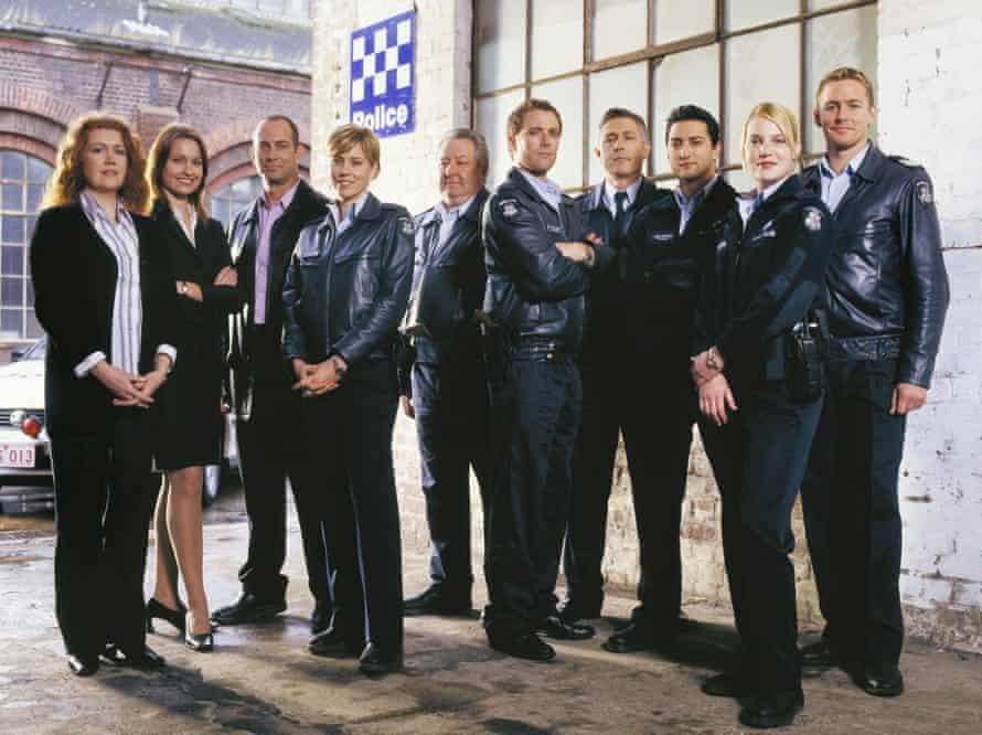 Blue Heelers cast members in 2004, including show veteran John Wood