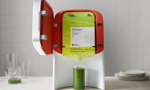 """Despite being termed a """"juicer"""", the Juicero doesn't really juice anything; you can't drop a carrot, apple, or orange inside it."""