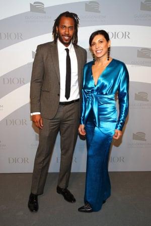 Rashid Johnson and Sheree Hovsepian in November 2019