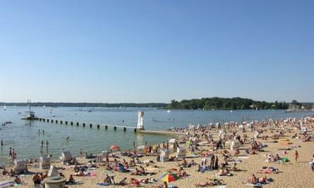 A beach at Wannsee, Berlin.