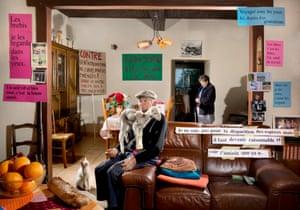 Je les regarde dans les yeux (Agnus homini), Mérilheu, Pyrénées, France, 2017, by Aurore ValadeAt the Musée de l'Arles antique, meanwhile, Intimate Revolts by French artist Aurore Valdade is a series of exuberant, maximalist portraits