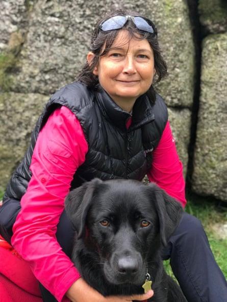 Jo Stocks with her dog, Maya
