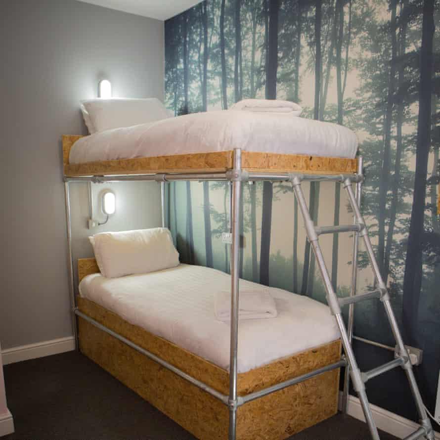Bunk beds at Sleep Eat Love Hostel, Liverpool.