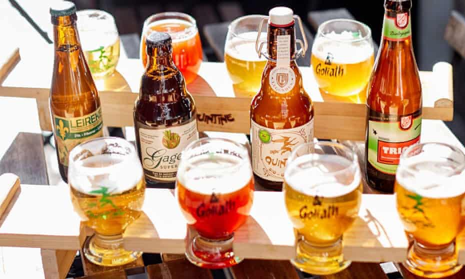 Selection of beers at The Sister, Brussels.