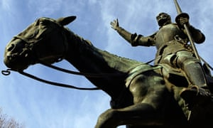 A new perspective on storytelling … a statue of Don Quixote in Plaza de España, Madrid.