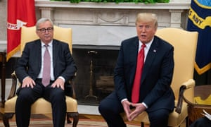 US President Donald Trump meeting with European Commission President Jean-Claude Juncker in the Oval Office of the White House.