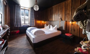 A room at the revamped Terminal Neige Refuge du Montenvers, Chamonix