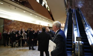 Mike PenceVice President-elect Mike Pence gives the thumbs-up to people waiting in the lobby as he arrives at Trump Tower, Tuesday, Nov. 22, 2016, in New York. (AP Photo/Carolyn Kaster)