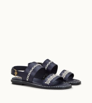 Mame Kurogouchi is the third designer to create a capsule collection for Tod's T Factory project. Chosen for a mutual passion for traditional craftsmanship, Kurogouchi's Japanese craft aesthetic mirrors Tod's Italian artisanal techniques. Sandals, £698, tods.com