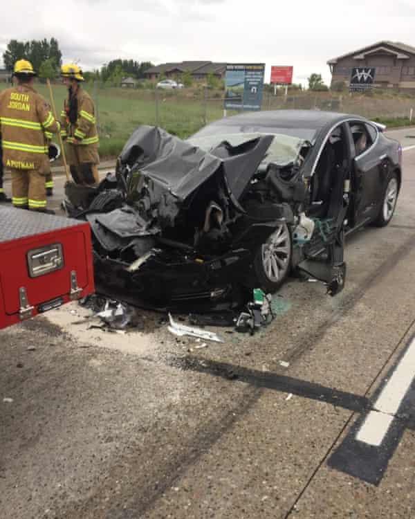 The scene of the crash in Utah.