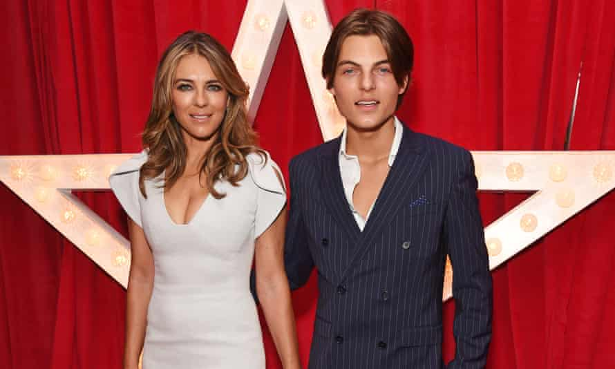 Elizabeth Hurley and her (only) son Damian.