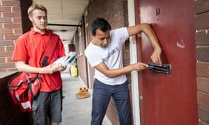 Rhik Samadder helps postal worker Charlie on his run in west London