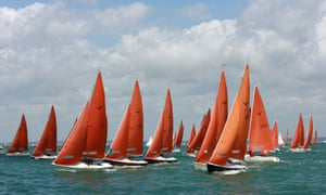 Sailing during Cowes Week on the Solent