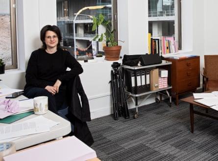 Sarah Rodigari in her studio at Parramatta Artists' Studios.
