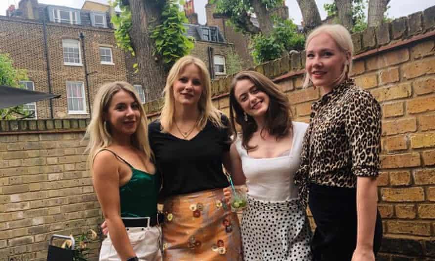 Antonia, Melanie, Gabriella and Pinja in their garden last summer