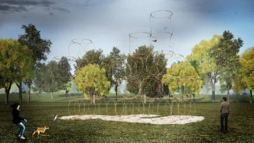 Serpentine summer house by Yona Friedman