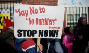 Birmingham parents demonstrate against the 'No Outsiders' programme, which teaches children about LGBT rights.