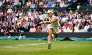 Angelique Kerber during her quarter-final match.