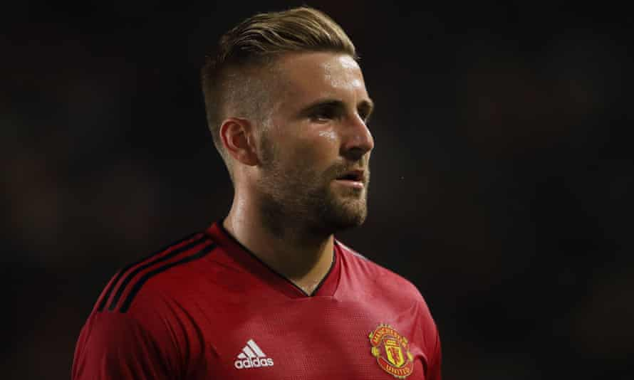 Manchester United's Luke Shaw during the friendly against AC Milan