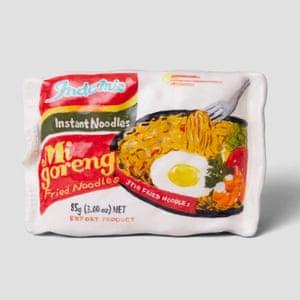 Mi Goreng Instant Noodles porcelain grocery artwork  by artist Stephanie H Shih.