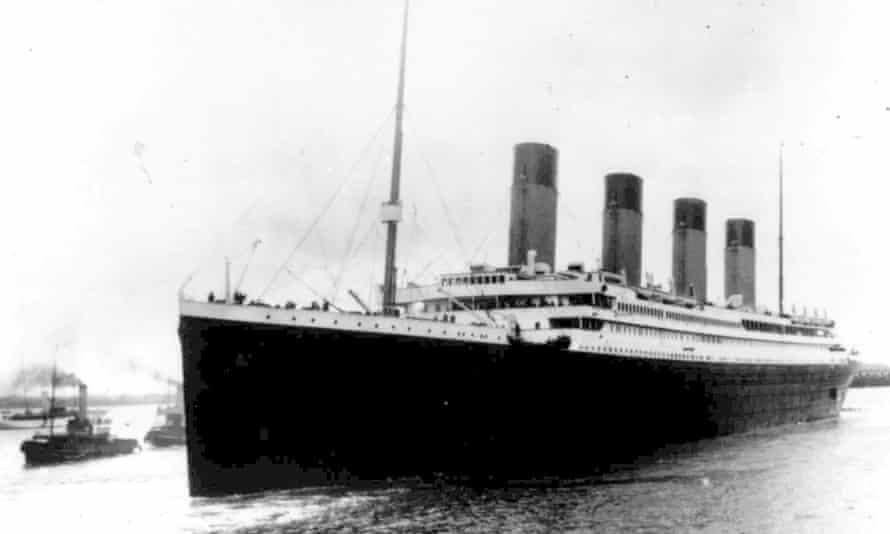 The Titanic leaves Southampton, England on 10 April 1912.