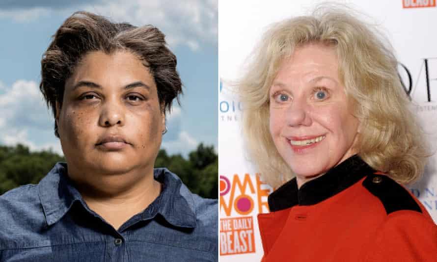 Roxane Gay (left) and Erica Jong had a tense discussion.