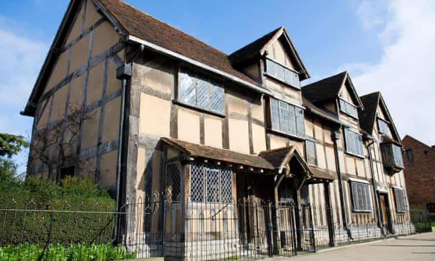 The house in which Shakespeare was born in Stratford-upon-Avon.