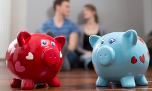 Couple with piggy banks