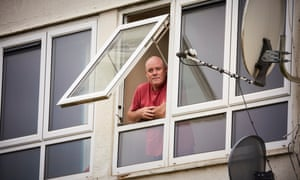Richard Maughan at his home in Mowmacre Hill in Leicester where he's been shielding since March.