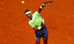 Spain's Rafael Nadal in action.