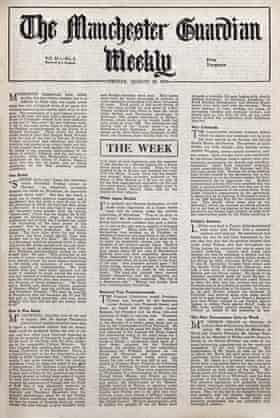 The Manchester Guardian Weekly, from Friday, 10 August 1945.