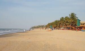 Kombo Beach in Kotu, Gambia.